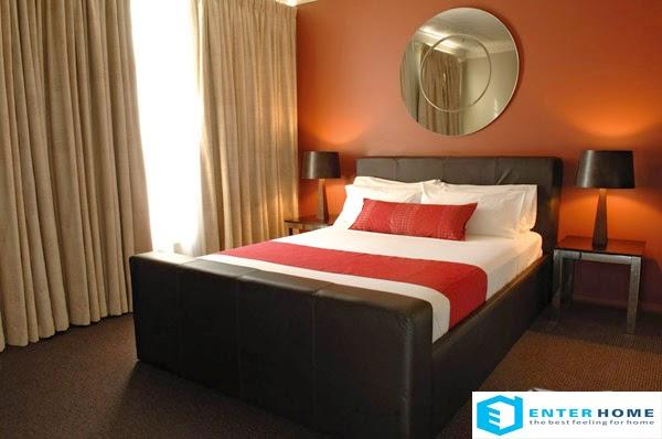 Kết hợp trắng đỏ cho phòng ngủ