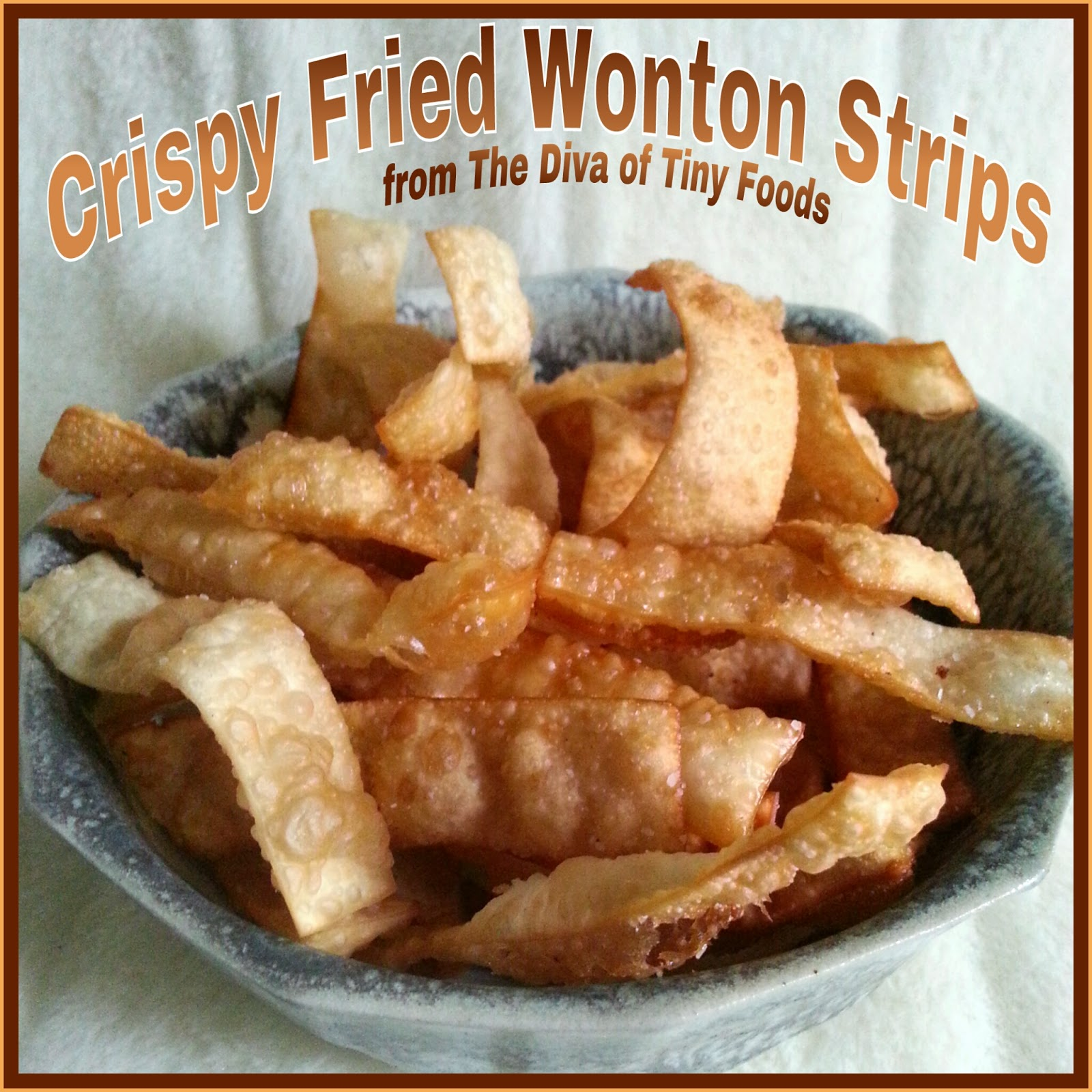 CRISPY FRIED WONTON STRIPS