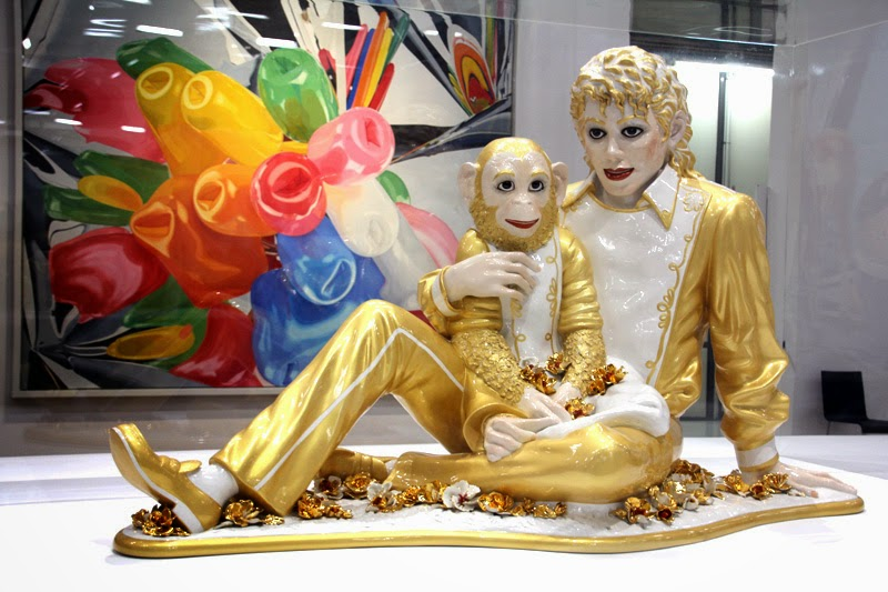 "Jeff Koons ""Michael Jackson and Bubbles"""