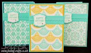 Win a Box of Birthday Cards featuring the beautiful Eastern Elegance Designer Series Papers and Label Love Stamp Set from Stampin' Up!  Visit Bekka's Blog to find out how