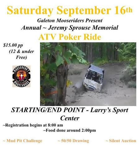 9-16 Jeremy Sprouse Memorial ATV Poker Ride