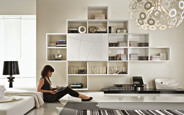 wall mounted shelving systems wall bookcases model by mobilgam living room bookshelves and shelving units - Showcase Designs For Living Room