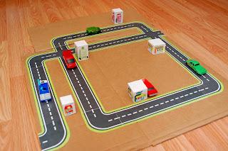 Glued road map panels