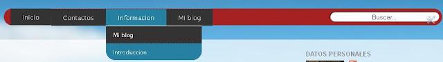 Como hacer un menú horizontal con submenús y buscador integrado para blogger