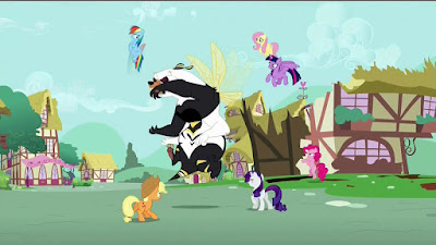 The Mane Six battle the Bug-bear
