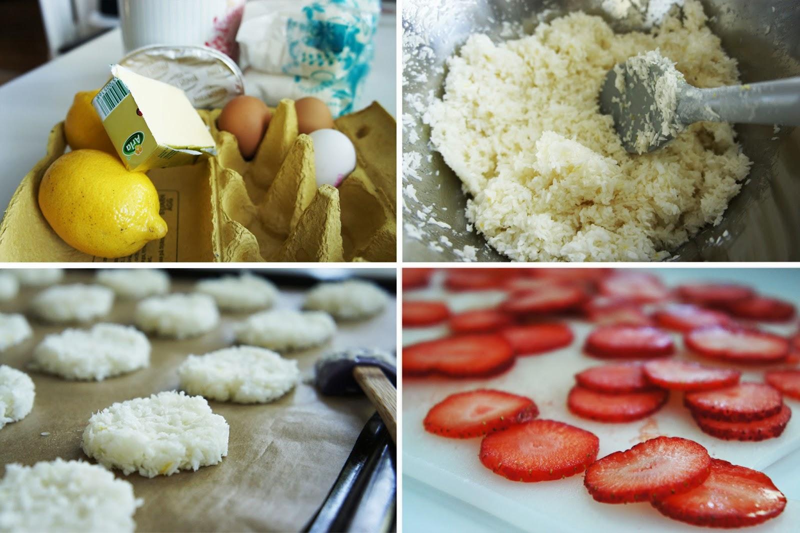 bakverk med äggvita och socker