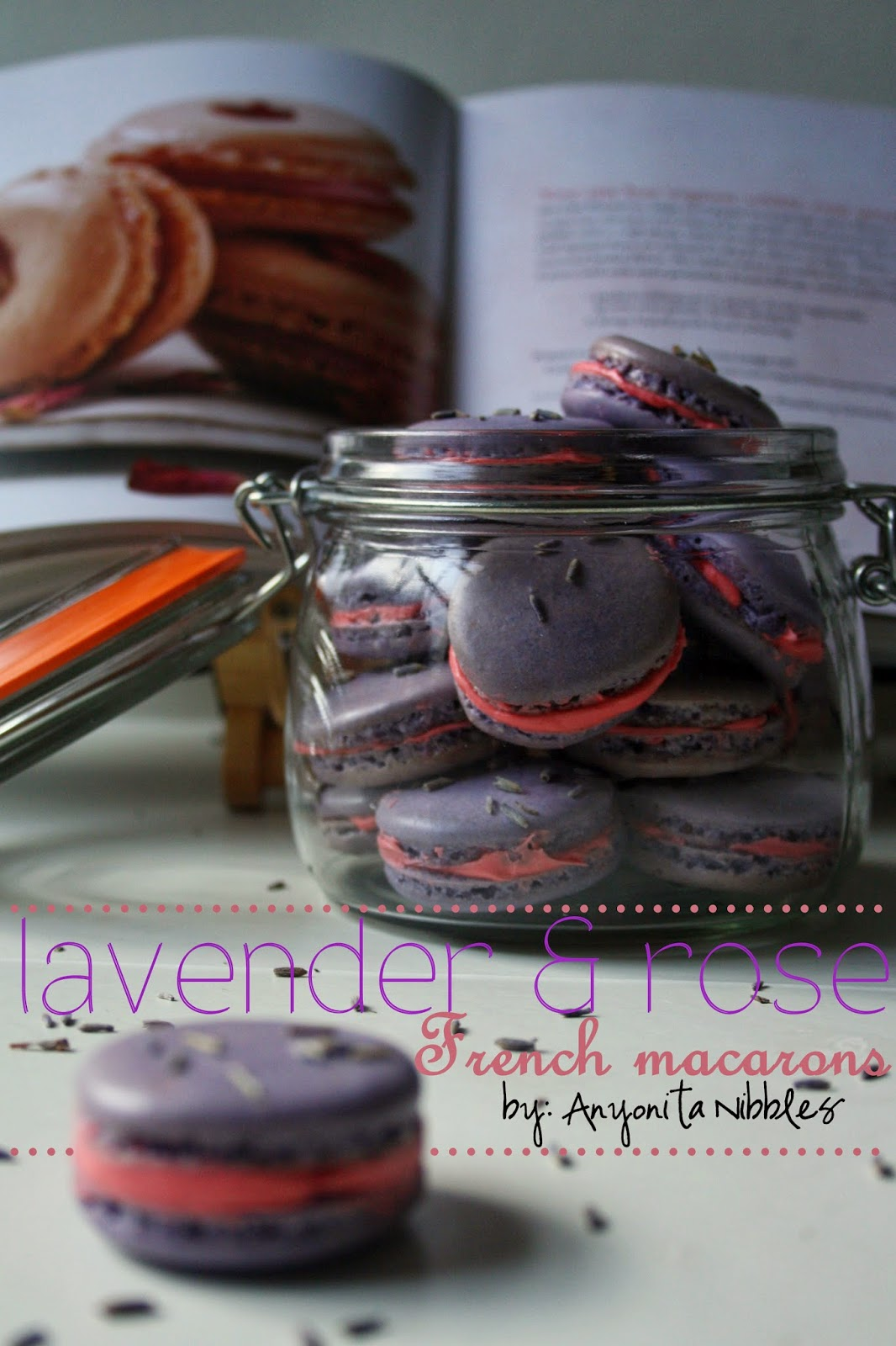 These lavender and rose #macarons from @anyonita would make an excellent #Mother'sDay gift! Pacakage them in a lovely box or jar for a pretty present.