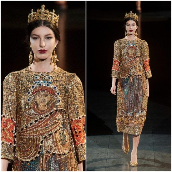Estilosas e Fashionistas  O Império Bizantino de Dolce   Gabbana ... a3e4bb97e0