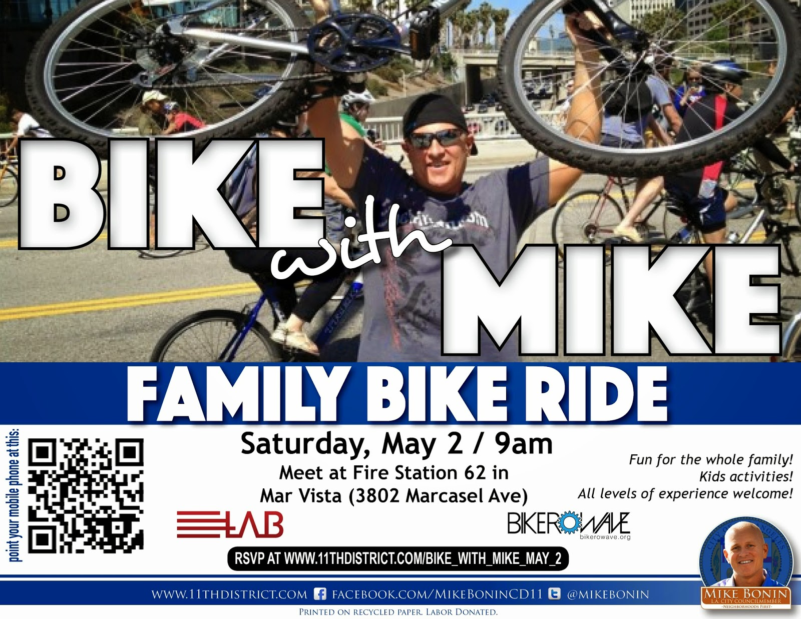 Bike With Mike Bonin On Saturday May 2nd The Noel Team