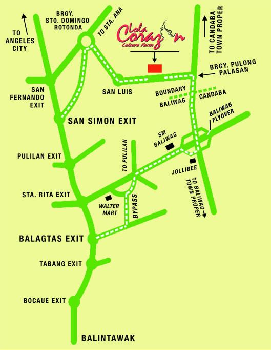 Lola Corazon Leisure Farm A Perfect Venue For Teambuilding - Bocaue map