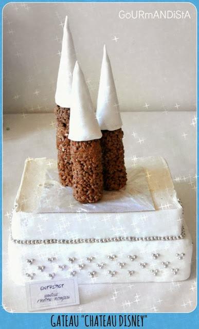 image gâteau château disney