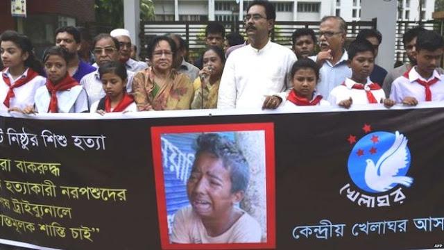 Bangladesh  cruel tortura y asesinato a niño de 13 años