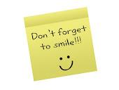 senyum ibarat hadiah...
