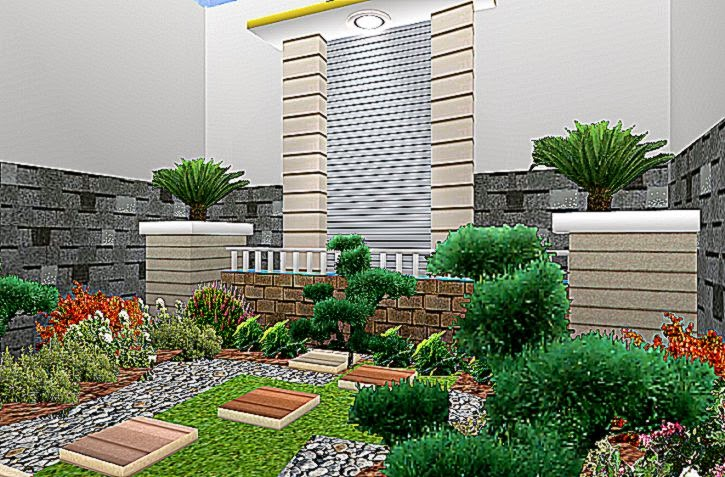 20 Gambar Desain Taman Rumah Minimalis Terbaru 2015  DesainRumahMini
