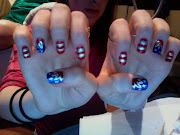 July 4th Nails. July 2012. Colors Used: Sally Hansen Complete Salon Manicure .