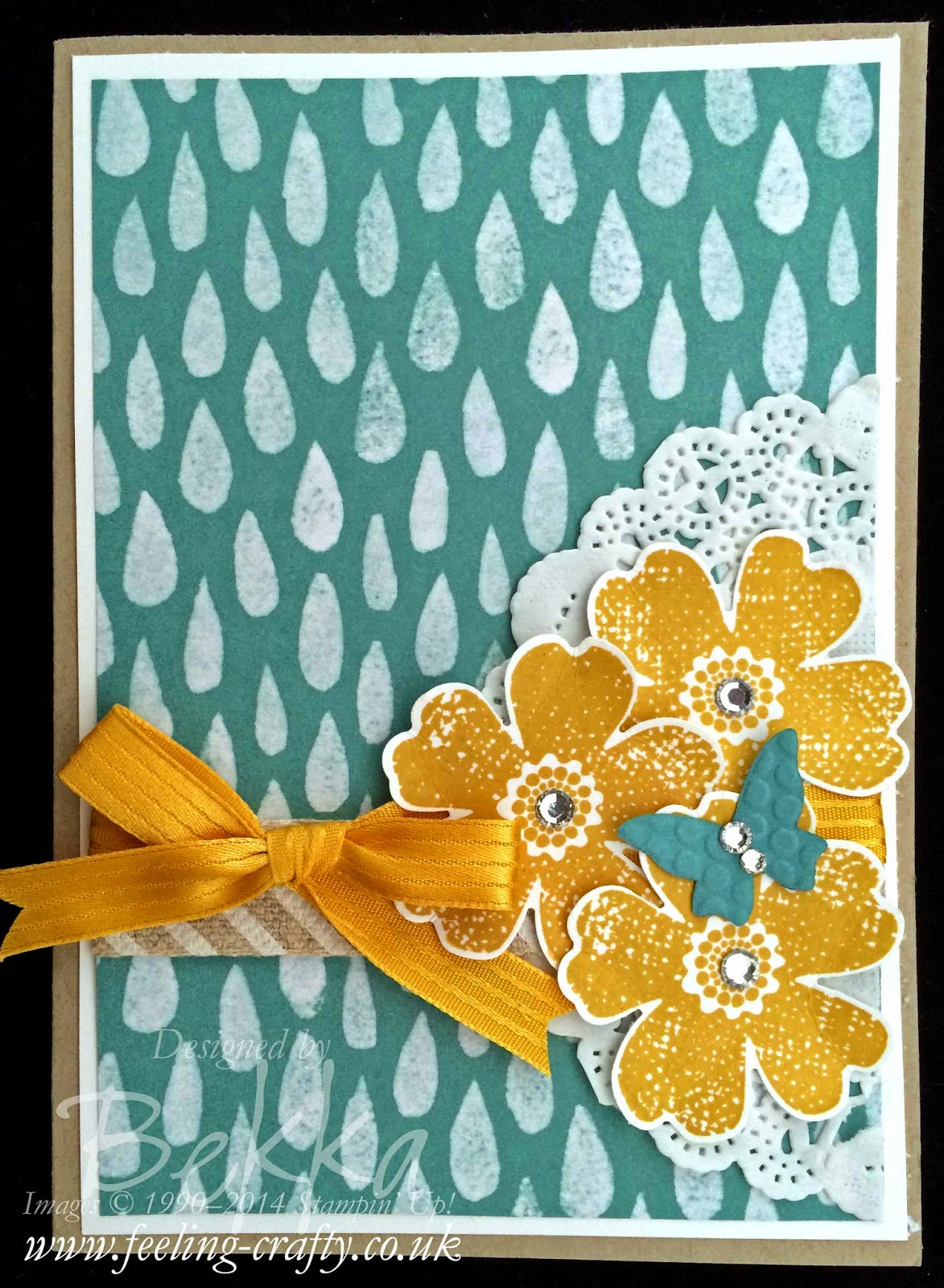 Card for any Occasion using the Flower Shop Stamp Set from Stampin' Up!  by Stampin' Up! UK Independent Demonstrator Bekka Prideaux