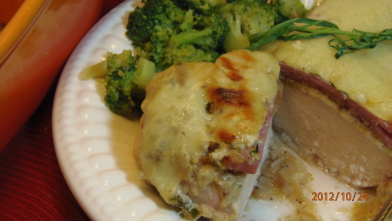 Un-Stuffed Chicken Cordon Bleu Recipe