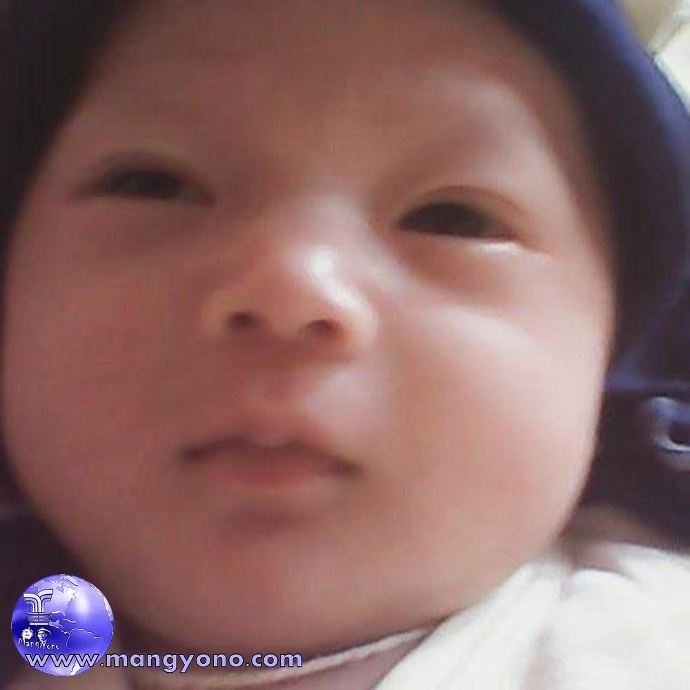 Poto anak saya setelah pemberian nama dan upacara adat Nurunkeun, ngayun.