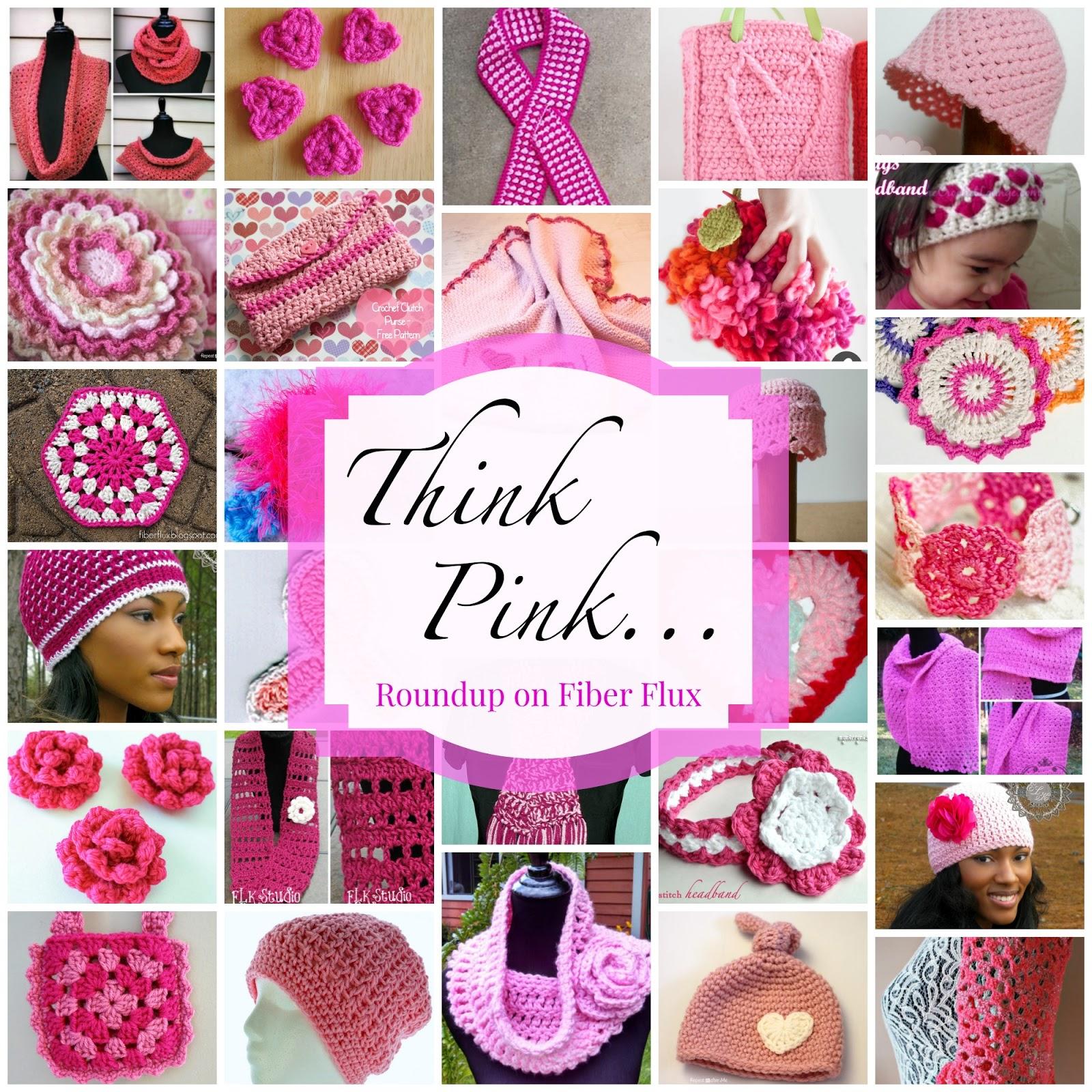 Fiber Flux Think Pink40 Free Crochet Patterns To Go Pink In October
