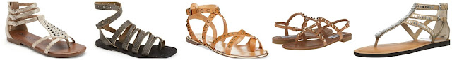 Mudd Gladiator Thong Sandals $24.99 (regular $49.99)  Free People Sunever Leather Gladiator Sandal $40.80 (regular $68.00)  Report Signature Cash2 Studded Flat Gladiator Sandals $48.30 (regular $69.00)  Steve Madden Sabela $55.99 (regular $79.95)  Dolce Vita Faxon Gladiator Sandal $66.42 (regular $139.00)