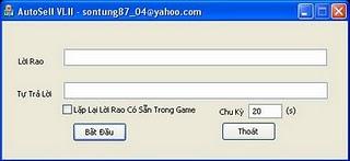 AutoSell của bạn Tiểu Bảo CSTH auto vo lam 2 8.0.1 2012   (Bản auto mới nhất AutoSell VLII 7.0.10  )                                                                                                                                                            Autosell