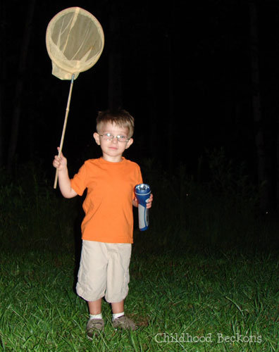 Communicate with lightening bugs with a flashlight