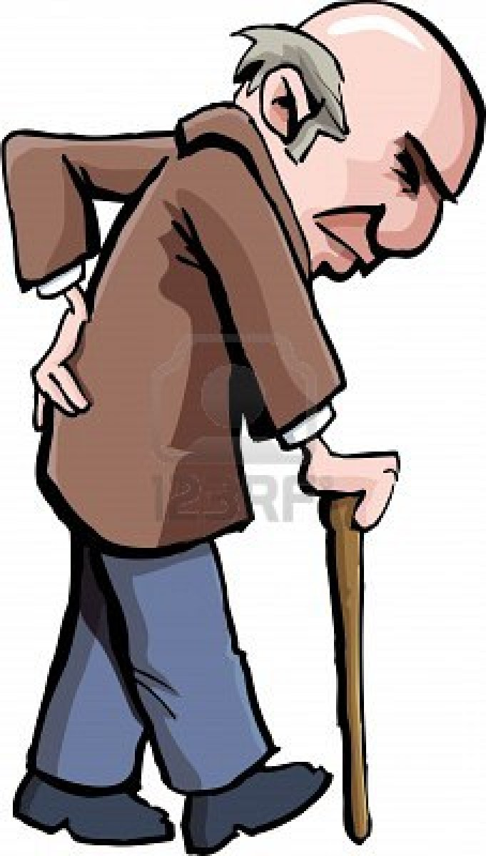 Expat Mum: Stand Up for your Elders Old Man Walking Cartoon