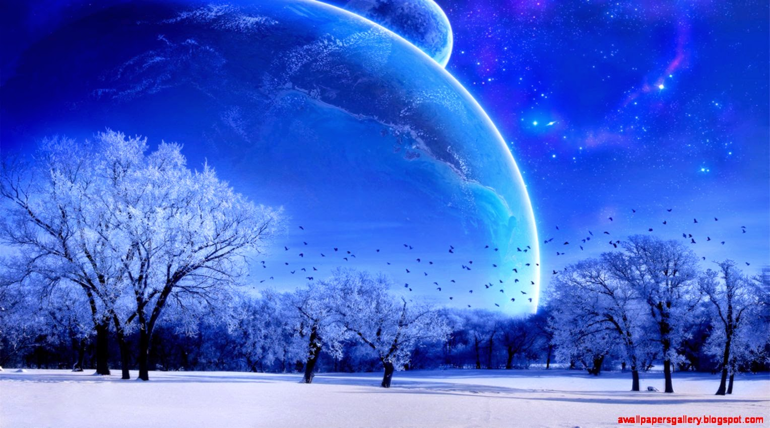 Fantasy Dreamy World Space Scene Picture Wallpaper Wallpapers