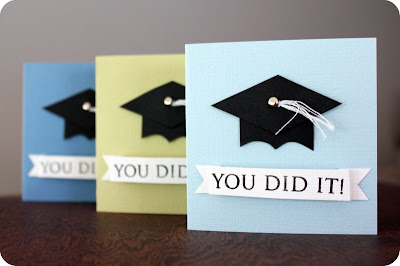 paper crafts: mini grad cards