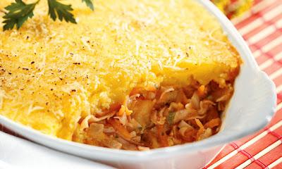 Assado de mandioquinha, queijo e peru Selo -