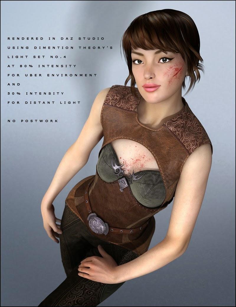 3d Models - Leather Fantasy Armor for Genesis 2 Female(s)