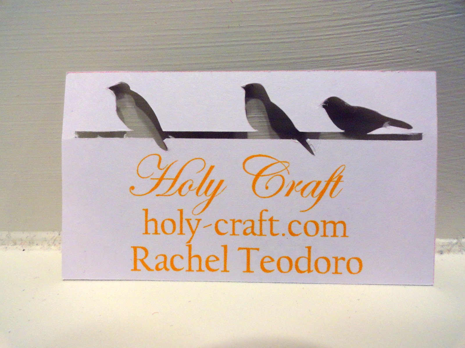 handmade business cards with the silhouette machine rachel teodoro