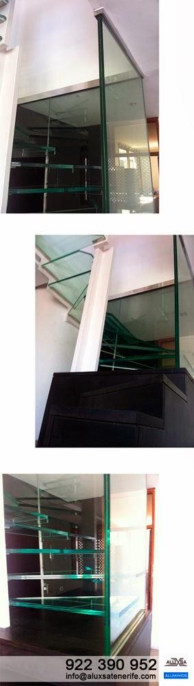 Aluxsa tenerife escalera de cristal en vivienda for Escaleras de viviendas