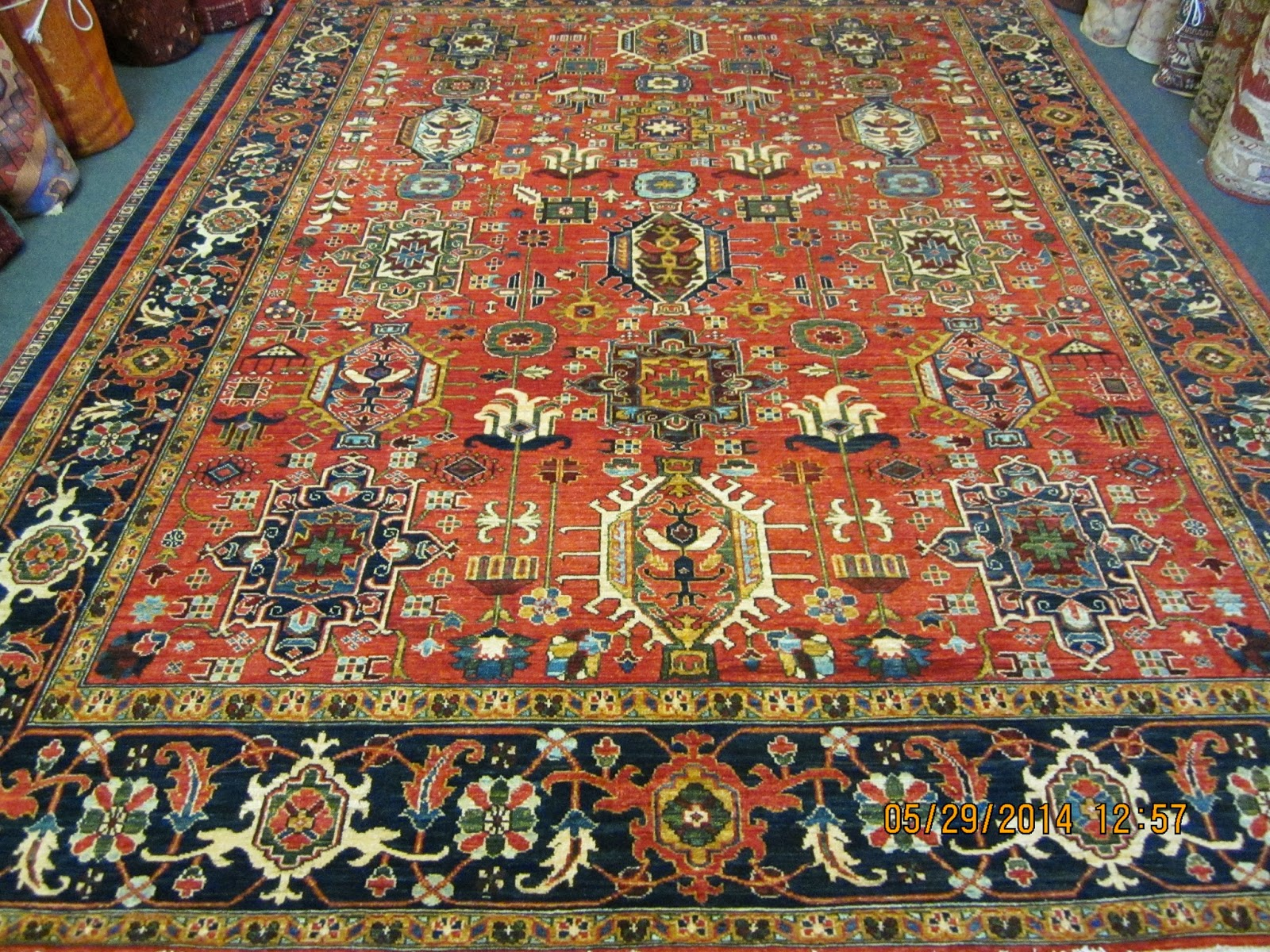 tribal cm rug hand x knotted shiraz persian wool img