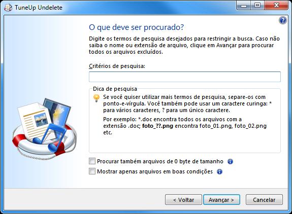 Recuperar arquivos excluídos com o TuneUp Undelete - 575x422