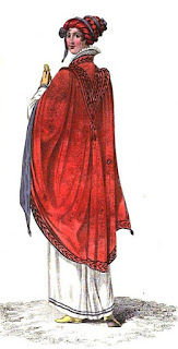 Walking dress   from La Belle Assemblée (Mar 1811)