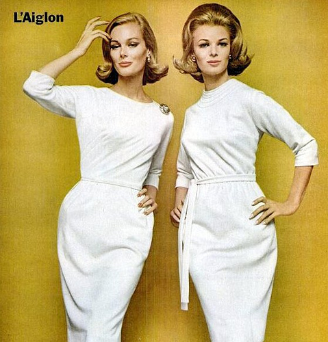 1960s L'aiglon wiggle dress Mad Men ad Just Peachy, Darling