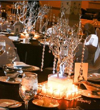 Crystal Wedding Decorations Ideas