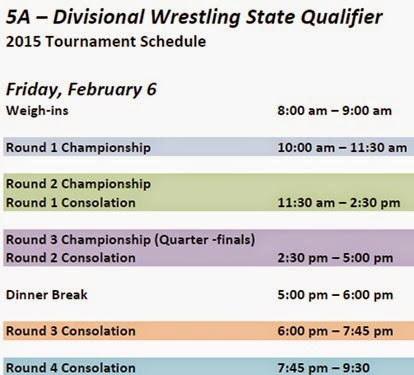5A – Divisional Wrestling - Friday
