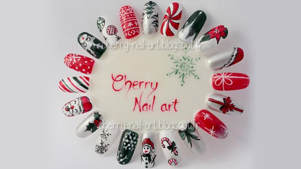 Cherry nail art blog mode beaut mon kit nail art pour noel concours - Idee nail art facile ...