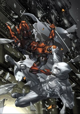 Moon Knight Vs Deadpool