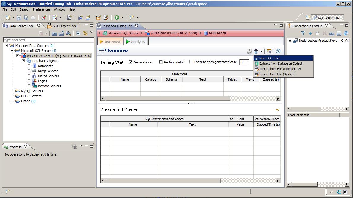 Načtení SQL příkazů