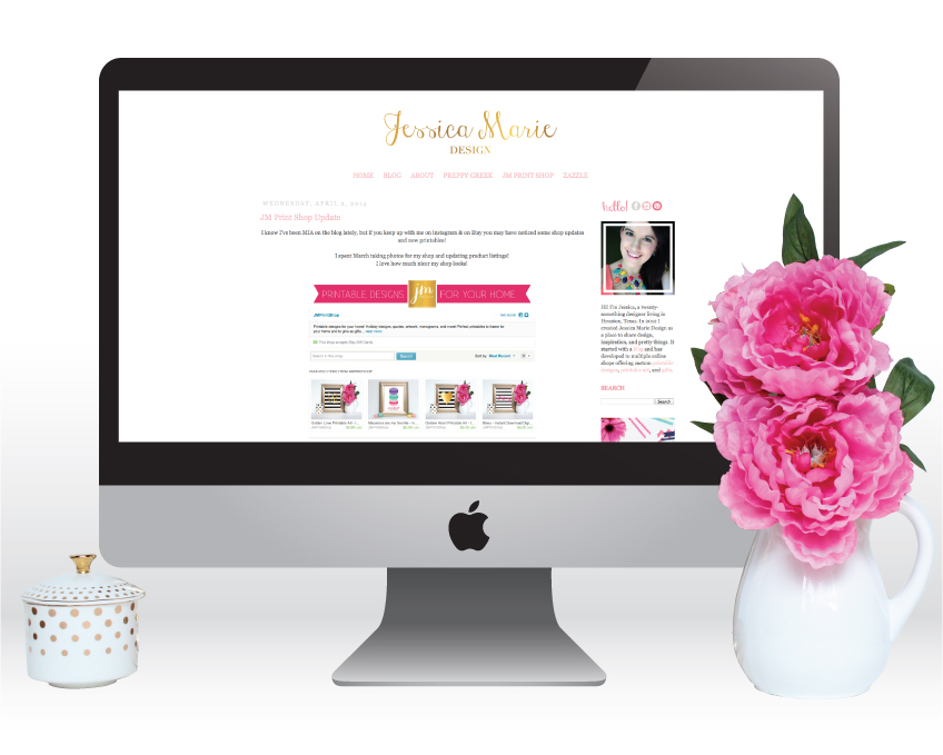 Blog Update for blog.JessicaMarieDesign.com