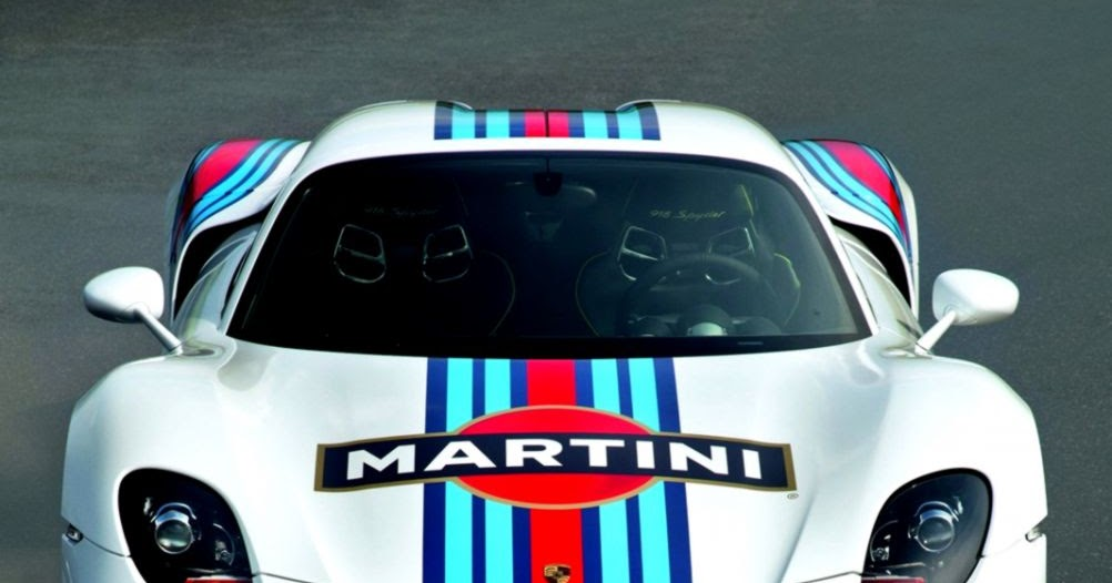 Porsche 918 Spyder Martini Wallpaper