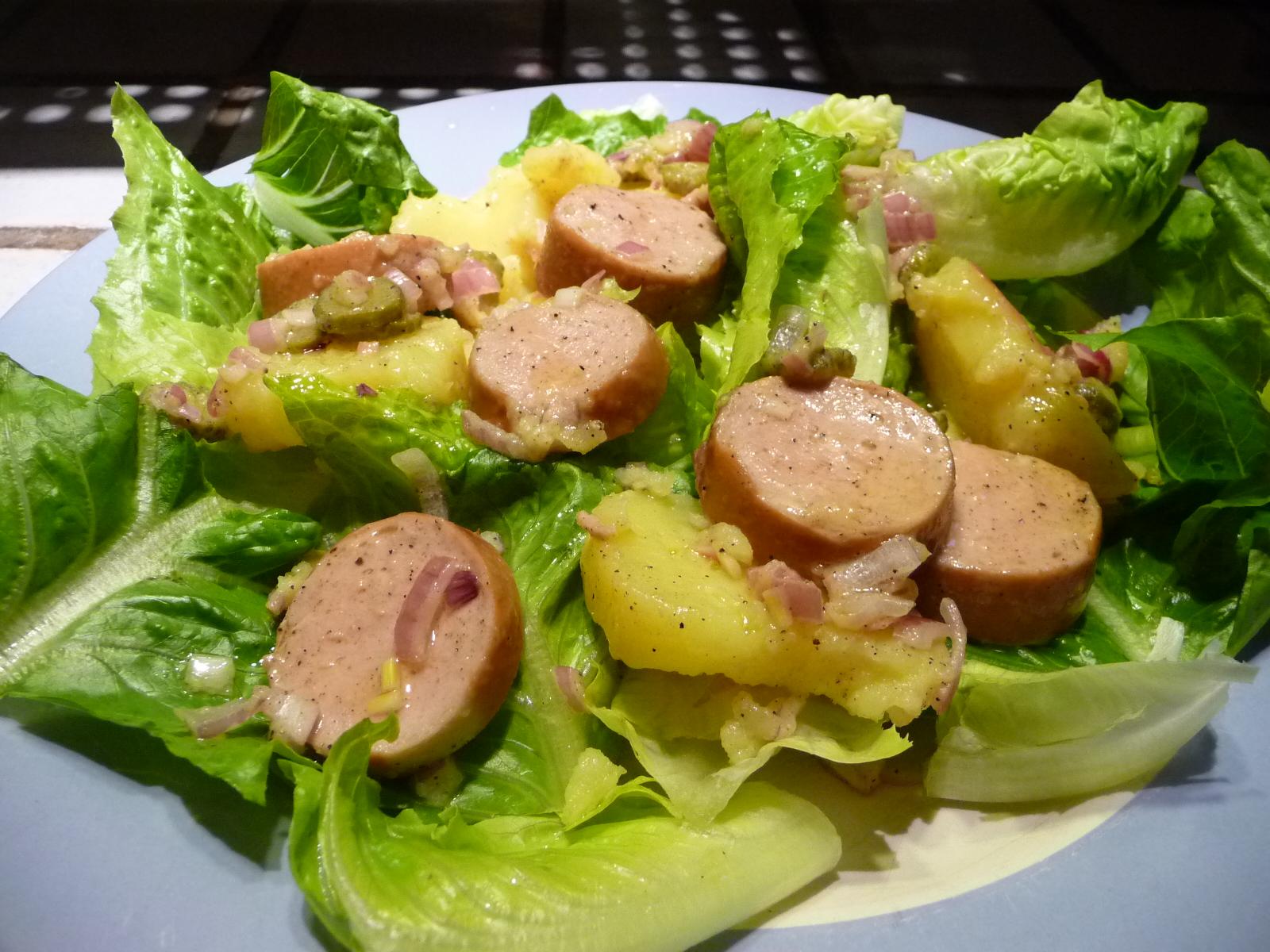 le roman culinaire v salade cervelas pommes de terre. Black Bedroom Furniture Sets. Home Design Ideas