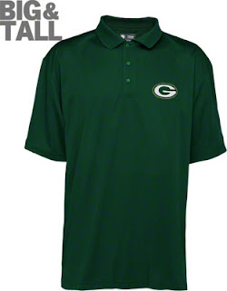 Big and Tall Green Bay Packers Polo Shirts