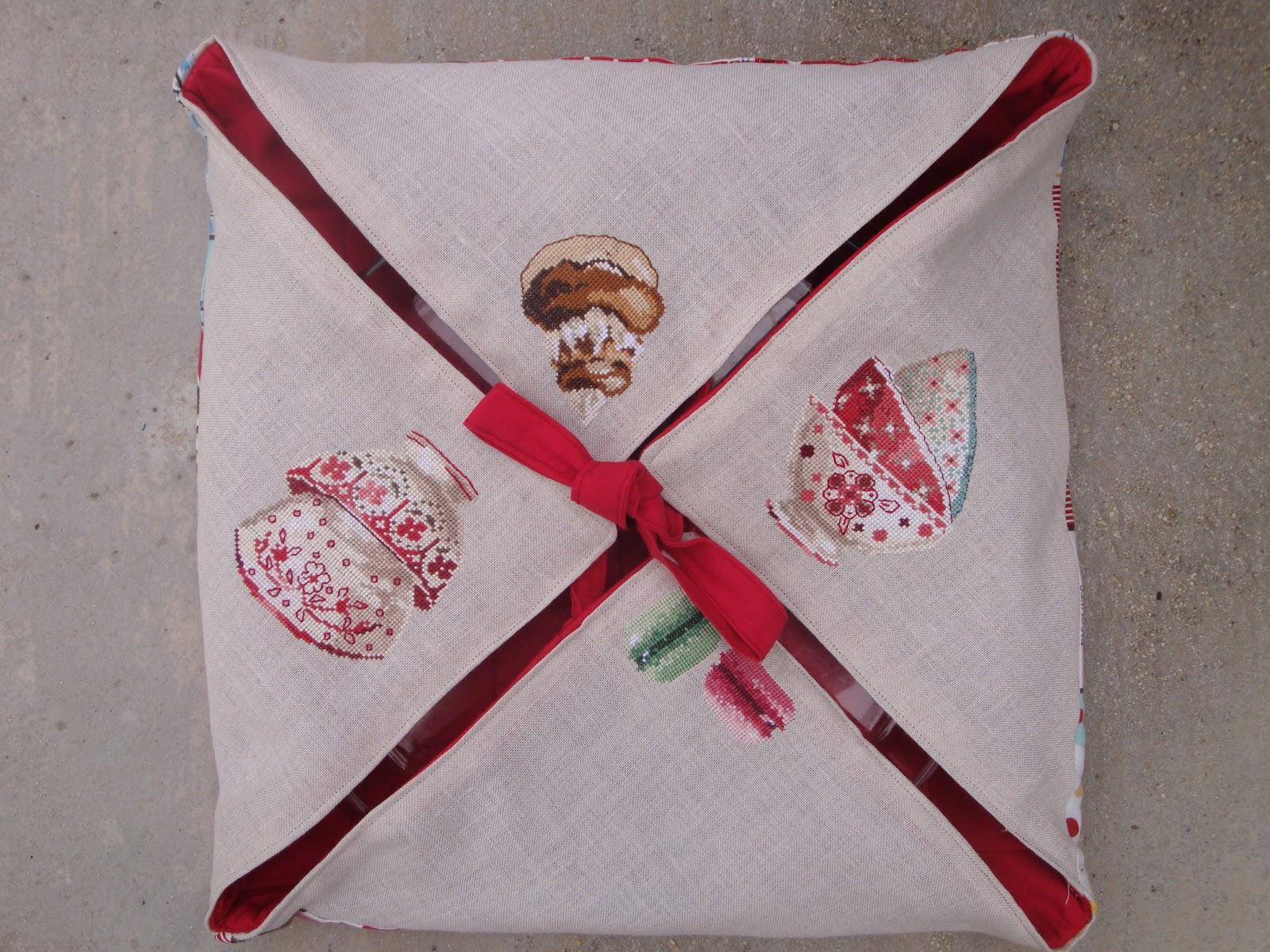 Creakath mini tuto porte tarte brod - Porte tarte en tissu ...