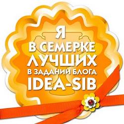 Я в семерке лучших в задании блога Idea-sib!!!