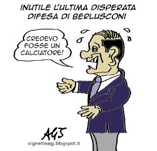 Berlusconi, De Gregorio, corruzione satira vignetta