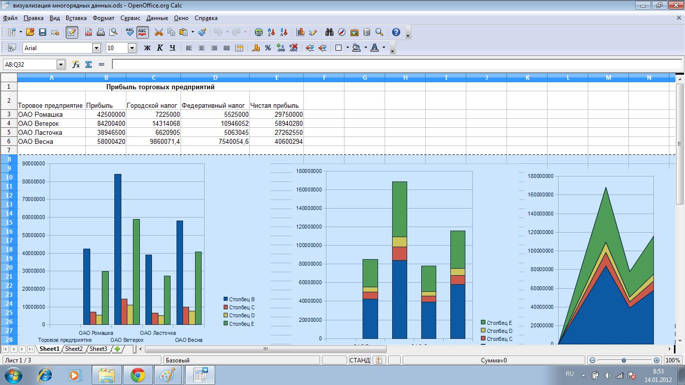 Процентная диаграмма в Excel инструкция по созданию 44